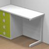 mesa estudio verde 4 cajones dormitorio infantil malaca