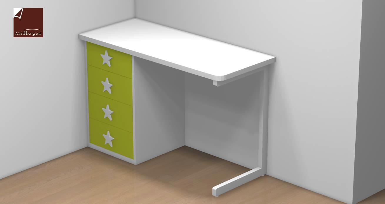 Mesa estudio lacada infantil malaca muebles mi hogar - Mesas de estudio abatibles ...
