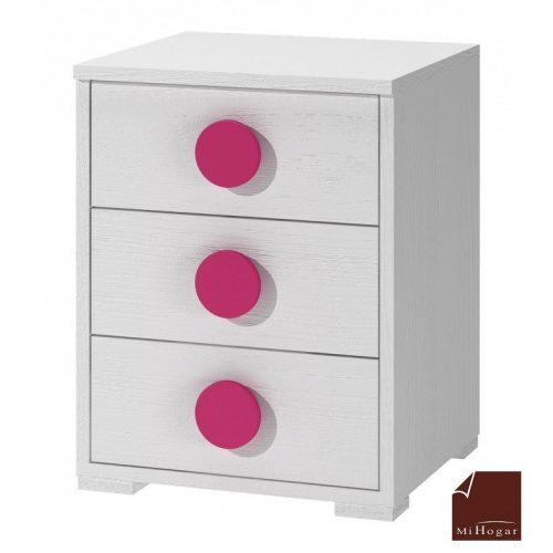 mesita blanco rosa dormitorio infantil mvs