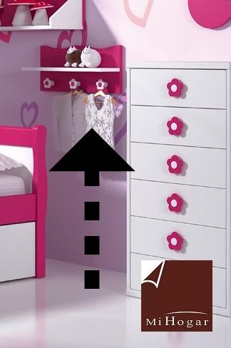 perchero estante dormitorio infantil malaca
