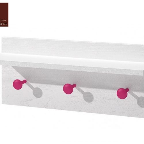 perchero pared blanco rosa dormitorio infantil mvs