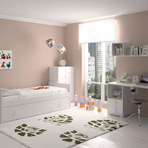 sinfonier cama nido mesa estudio dormitorio infantil mvs