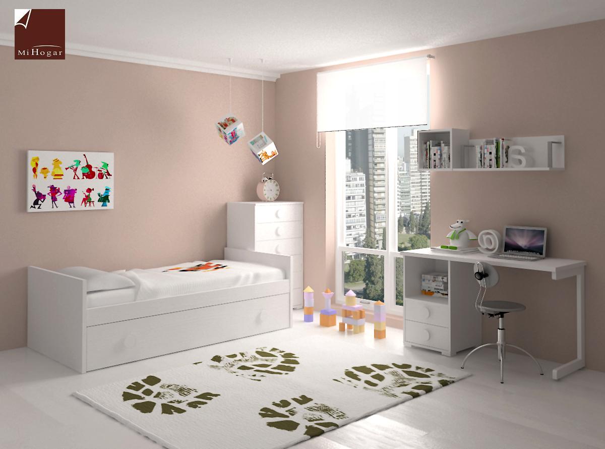 Dormitorio infantil 3 mvs muebles mi hogar - Mueble cama nido ...