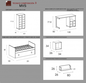tecnico dormitorio infantil 3 mvs
