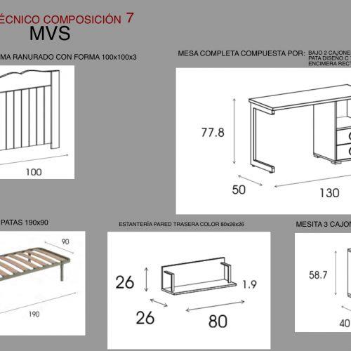 tecnico dormitorio infantil 7 mvs
