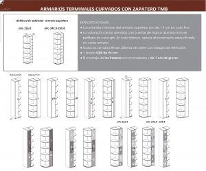 TÉCNICO ARMARIO TERMINAL CURVADO-ZAPATERO DORMITORIO JUVENIL TMB