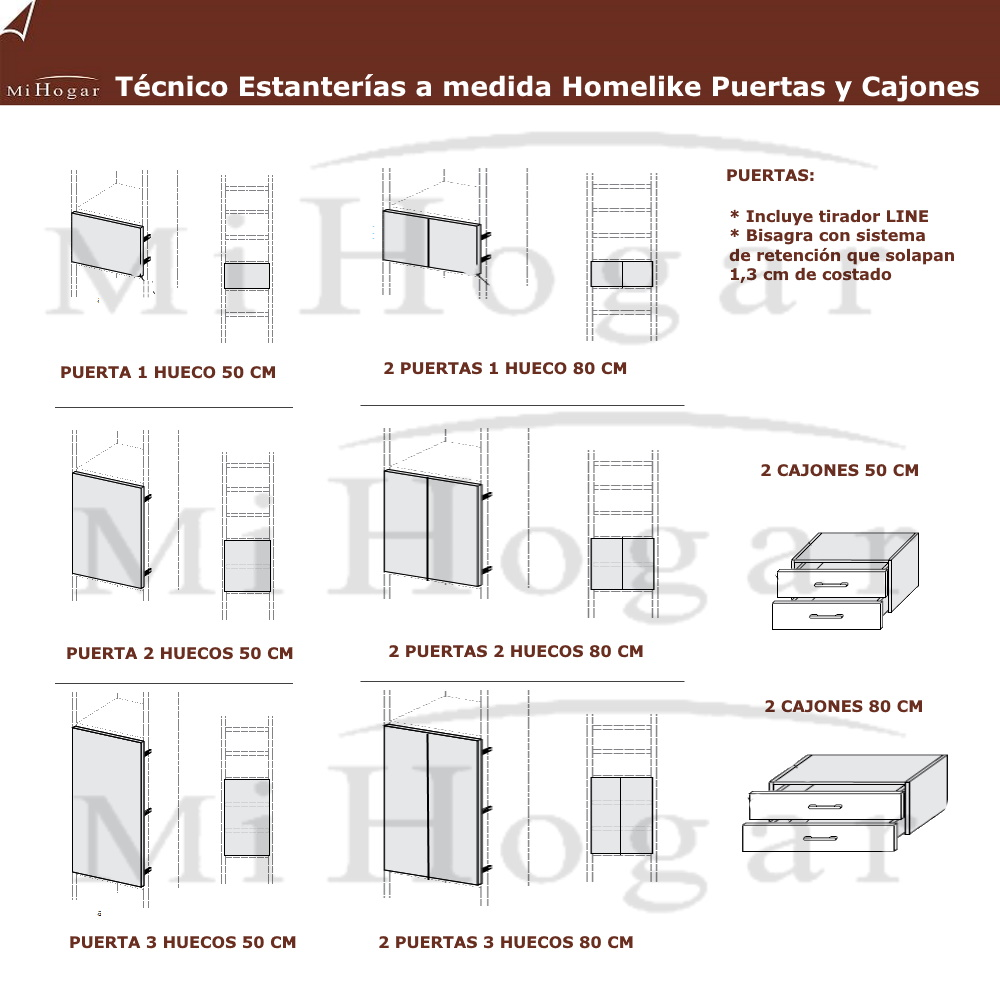 Estanter as a medida homelike muebles mi hogar for Mesas de estudio a medida