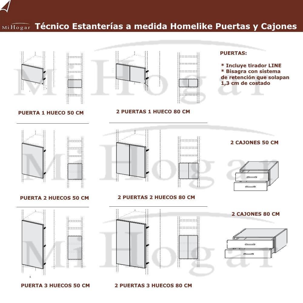 Estanter as a medida homelike muebles mi hogar for Mesas de estudio a medida
