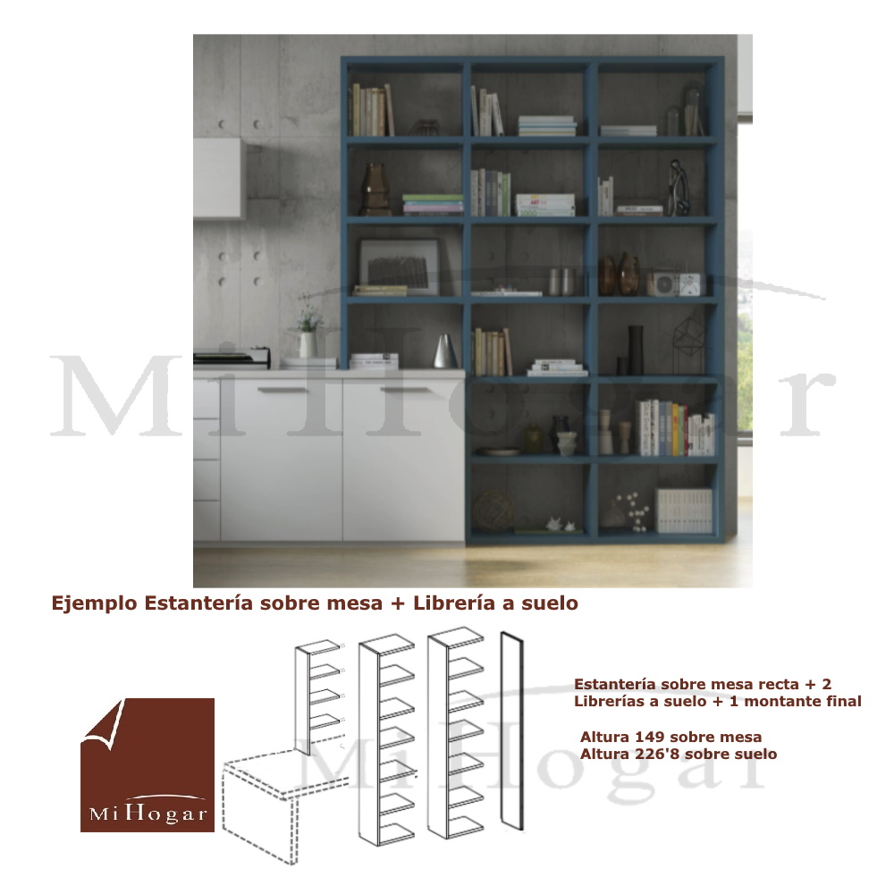 estantería librería escalonada sin trasera dormitorio juvenil homelike