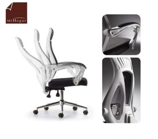 silla estudio malla reclinable reposacabezas giratoria polar