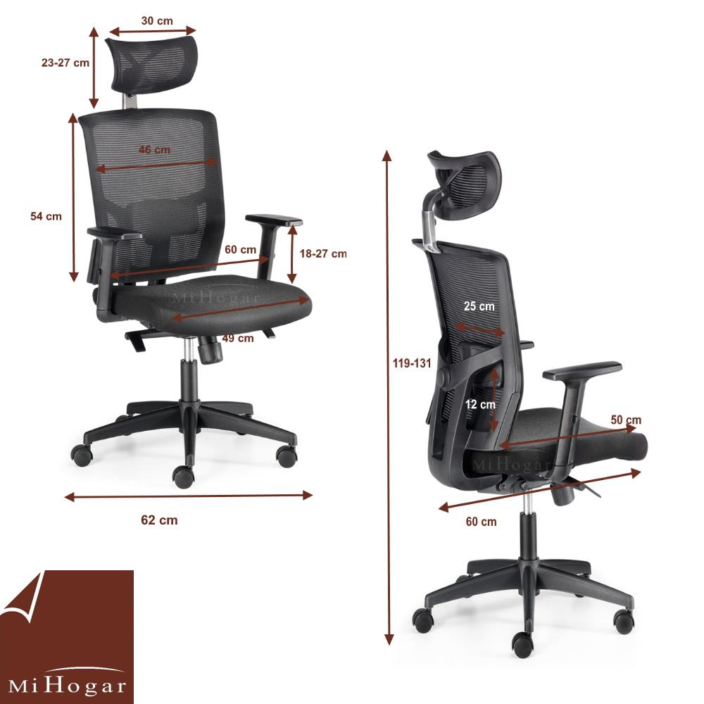 Silla oficina computer muebles mi hogar - Medidas silla ...