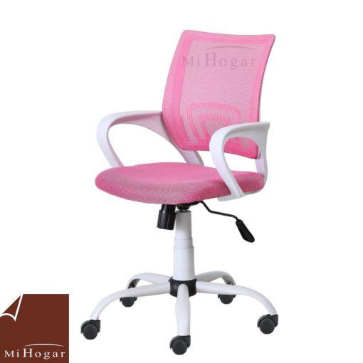 silla estudio rosa sin ruedas
