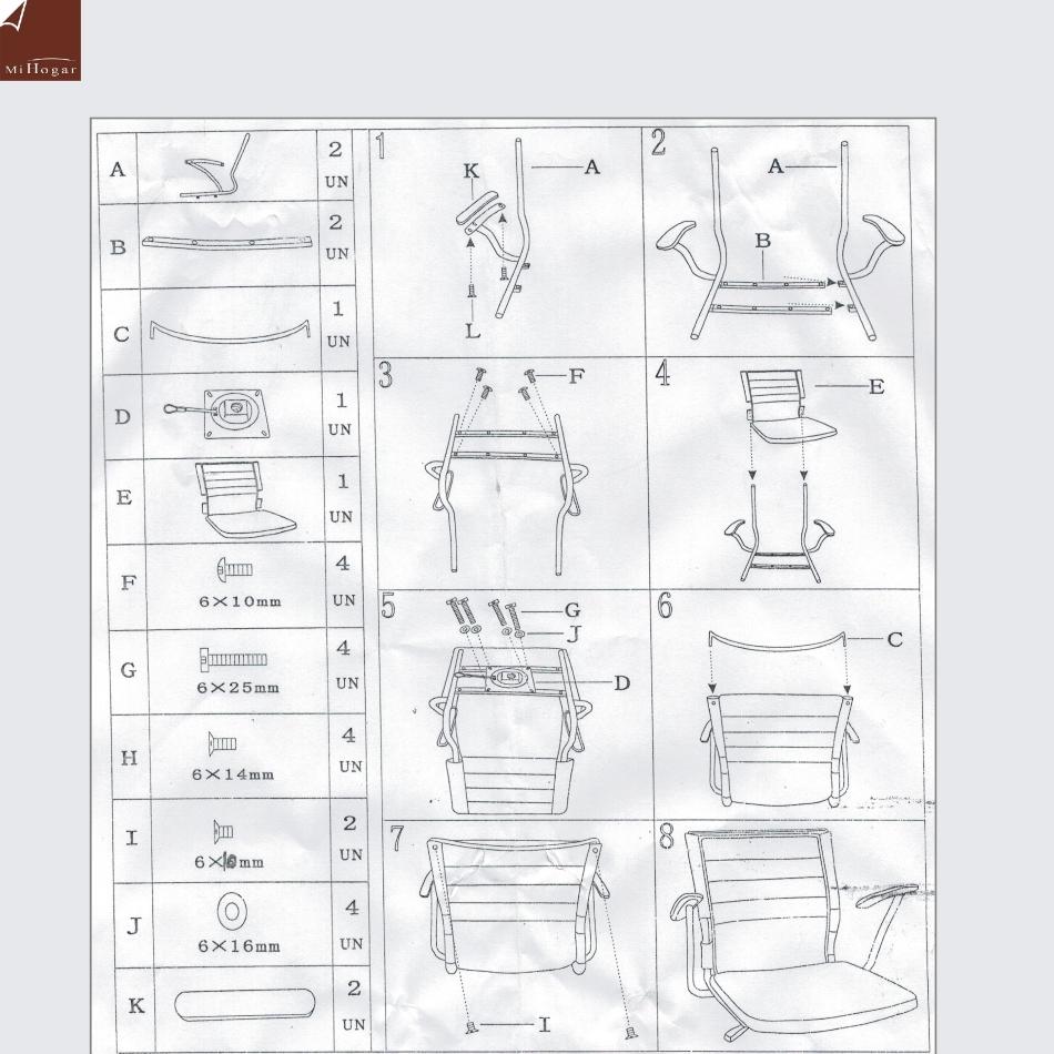 instrucciones de montaje silla estudio rosa sin-con ruedas