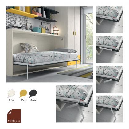 Cama abatible horizontal superior con nido abajo mesa o m dulos tmb muebles mi hogar - Sistema cama abatible ...