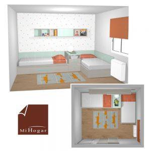dormitorio juvenil a medida camas en l