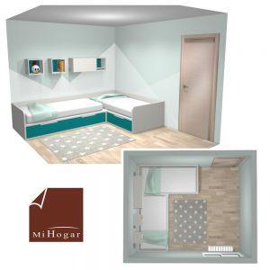 dormitorio juvenil a medida camas esquina rincon