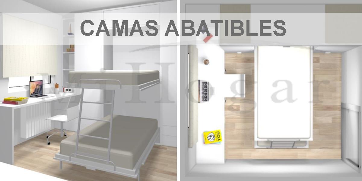 habitaciones con camas abatibles