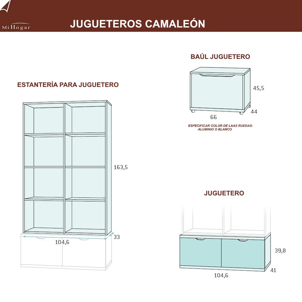 jugueteros-baul-estanteria-medidas dormitorios infantiles camaleon